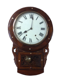Restored Drop Dial Wall Clock